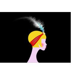 Flapper blonde girl art deco retro vintage party vector