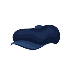 flat icon of blue men s hat with short vector image