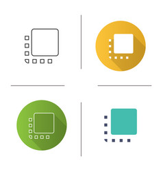 Flip to front button icon vector