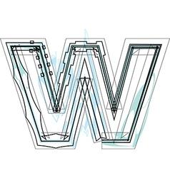 Font letter w vector