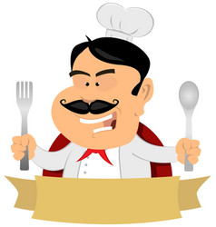 French master chef banner vector