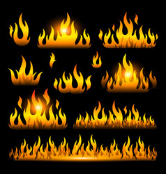 graphic flames isolated vector image