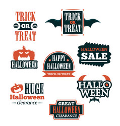 Halloween badge and label sticker collection vector
