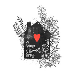 Hand drawn typography poster vector