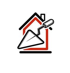 Houseicconc 87Classic spatula icon build materials vector