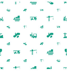 lift icons pattern seamless white background vector image