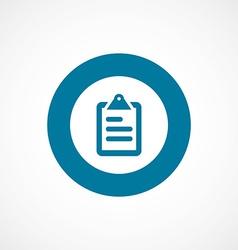 List bold blue border circle icon vector