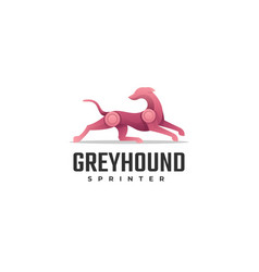 Logo greyhound gradient colorful style vector