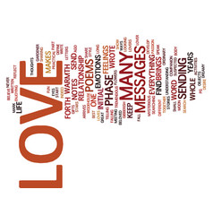 Love messages text background word cloud concept vector