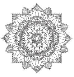 Mandala round ornament vector