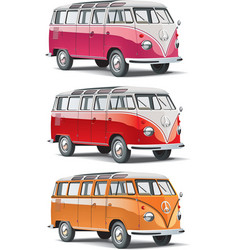 mini-bus set vector image