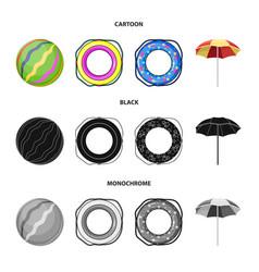 Multicolored swimming circle cartoonblack vector