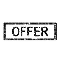 office stamp offer vector image vector image