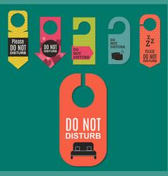 please do not disturb hotel door quiet motel vector image