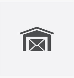 Post office icon vector
