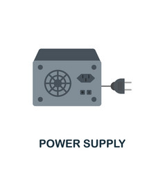 Power supply flat icon colored sign from home vector