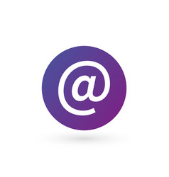 purple e-mail internet icon button isolated on vector image