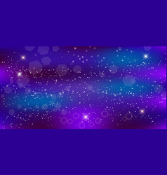 purple neon magic banner galaxy night starry sky vector image