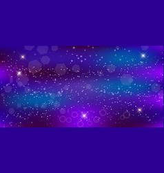 purple neon magic banner galaxy night starry sky vector image