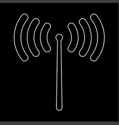 Radio signal the white path icon vector