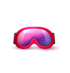 Realistic scuba diving mask goggles vector