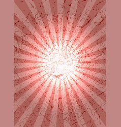 Red background with center rays grunge texture vector