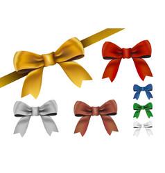 ribbon isolated on white background vector image