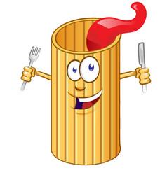 rigatone pasta cute comic character clip vetcor vector image