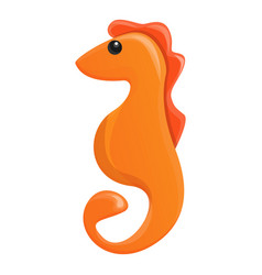 Sea horse icon cartoon style vector