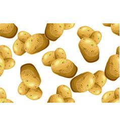 seamless pattern potatoes hand-drawn vector image