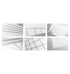 Shadow overlay effect realistic silhouette window vector
