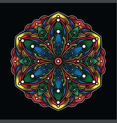 simple color mandala art vector image