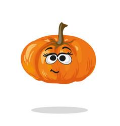 Smiling pumpkin cartoon mascot character vector