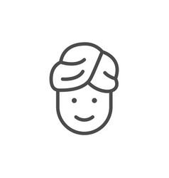 spa procedure line outline icon vector image