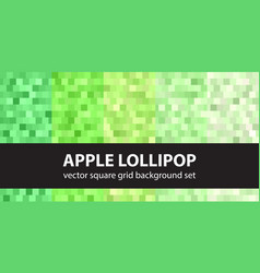 square pattern set apple lollipop seamless vector image