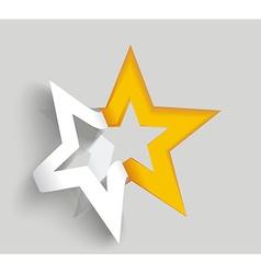 Star paper sticker on white background vector