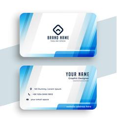 Stylish blue business card modern design vector