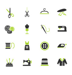 tailoring icon set vector image