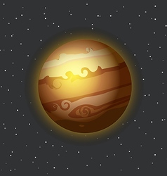 The jupiter in space vector