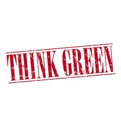 think green red grunge vintage stamp isolated on vector image