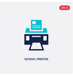 Two color school printer icon from general vector