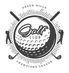vintage golf logotype vector image
