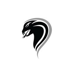 Viper snake logo design element danger snake icon vector