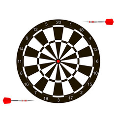 with dartboard for darts game vector image