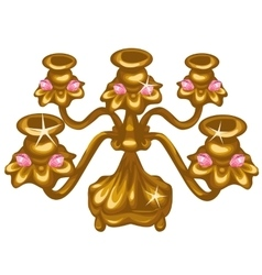 Gold Royal vintage lamp on white background vector image