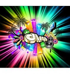 high tech music vector image vector image