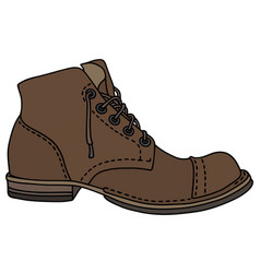 old lacing shoe vector image