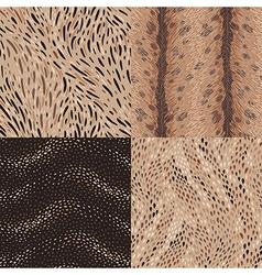 Pattern set animal vector
