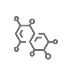 simple chemistry formula and molecule line icon vector image