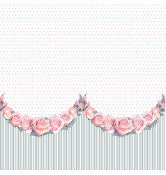 background with garland of flowers and vector image vector image